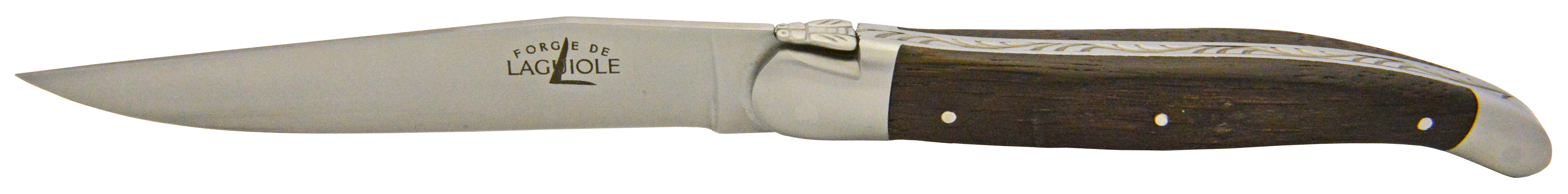 La finition Chêne Fossile offre une grande solidité au couteaux de table Forge de Laguiole.