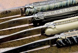 Couteaux d'art réalisés par Virgilio Munoz et Stéphane Rambaud