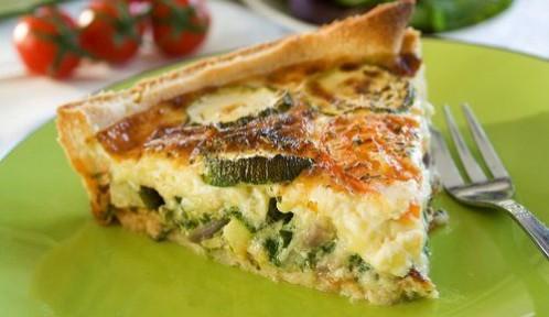 Recette d'été : tarte fine de laguiole et courgette