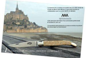 couteau laguiole sable