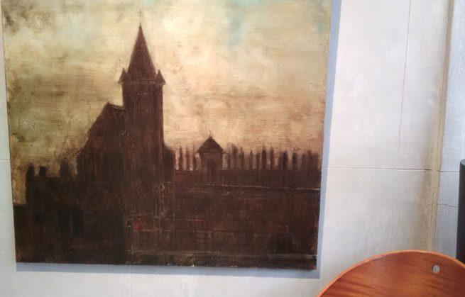 Exposition de peintures à notre boutique de Laguiole
